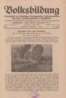 Volksbildung : Zeitschrift der Gesellschaft für Volksbildung, Jg. 64. 1934, [H. 9]
