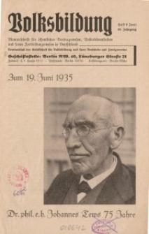 Volksbildung : Zeitschrift der Gesellschaft für Volksbildung, Jg. 65. 1935, [H. 6]