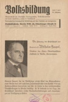 Volksbildung : Zeitschrift der Gesellschaft für Volksbildung, Jg. 65. 1935, [H. 7]