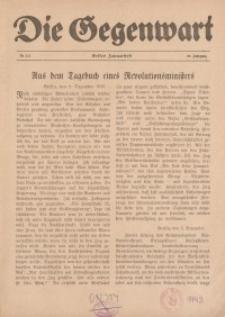 Die Gegenwart: Wochenschrift für Literatur, Kunst, Leben, 49. Jahrgang, 1920, H. 1/2