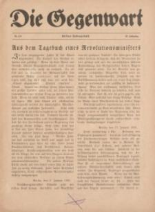 Die Gegenwart: Wochenschrift für Literatur, Kunst, Leben, 49. Jahrgang, 1920, H. 5/6