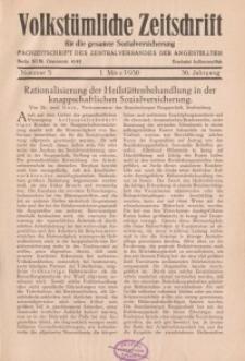 Volkstümliche Zeitschrift für die gesamte Sozialversicherung, 36. Jahrgang, 1930, H. 5