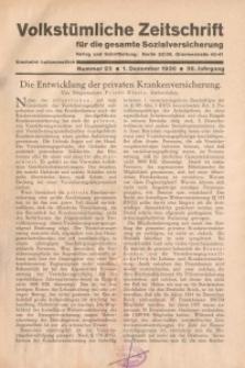 Volkstümliche Zeitschrift für die gesamte Sozialversicherung, 36. Jahrgang, 1930, H. 23