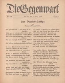 Die Gegenwart: Wochenschrift für Literatur, Kunst, Leben, 44. Jahrgang, 1915, H. 14