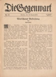 Die Gegenwart: Wochenschrift für Literatur, Kunst, Leben, 44. Jahrgang, 1915, H. 33
