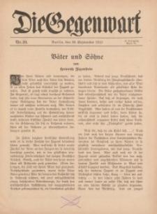 Die Gegenwart: Wochenschrift für Literatur, Kunst, Leben, 44. Jahrgang, 1915, H. 39