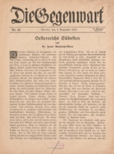 Die Gegenwart: Wochenschrift für Literatur, Kunst, Leben, 44. Jahrgang, 1915, H. 49