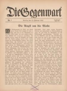Die Gegenwart: Wochenschrift für Literatur, Kunst, Leben, 45. Jahrgang, 1916, H. 7