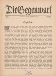 Die Gegenwart: Wochenschrift für Literatur, Kunst, Leben, 45. Jahrgang, 1916, H. 8