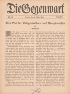 Die Gegenwart: Wochenschrift für Literatur, Kunst, Leben, 45. Jahrgang, 1916, H. 10