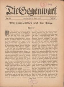 Die Gegenwart: Wochenschrift für Literatur, Kunst, Leben, 45. Jahrgang, 1916, H. 14