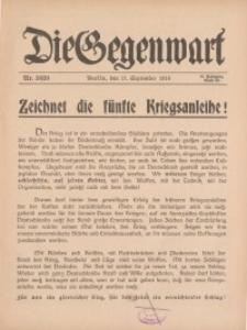 Die Gegenwart: Wochenschrift für Literatur, Kunst, Leben, 45. Jahrgang, 1916, H. 38/39