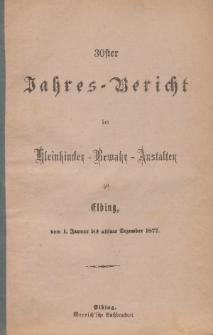 Jahres-Bericht der Kleinkinder-Bewahr-Anstalten zu Elbing, vom 1. Januar bis ultimo Dezember 1877
