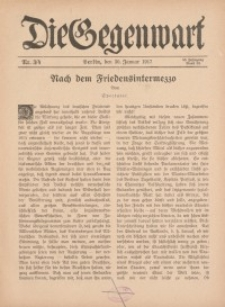 Die Gegenwart: Wochenschrift für Literatur, Kunst, Leben, 46. Jahrgang, 1917, H. 3/4