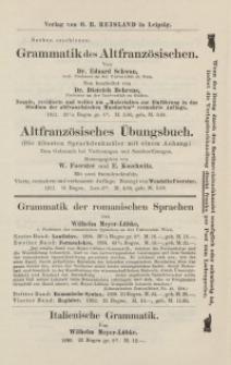 Verlag von O. R. Reisland in Leipzig [ulotka]