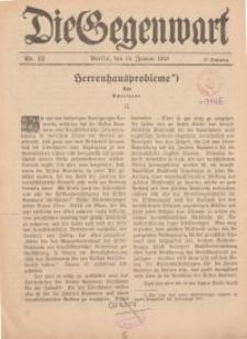 Die Gegenwart: Wochenschrift für Literatur, Kunst, Leben, 47. Jahrgang, 1918, H. 1/2