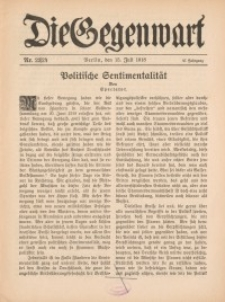 Die Gegenwart: Wochenschrift für Literatur, Kunst, Leben, 47. Jahrgang, 1918, H. 23/24