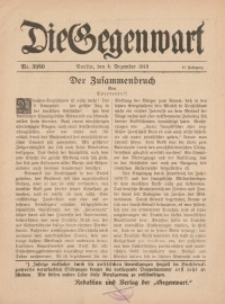 Die Gegenwart: Wochenschrift für Literatur, Kunst, Leben, 47. Jahrgang, 1918, H. 39/40