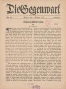 Die Gegenwart: Wochenschrift für Literatur, Kunst, Leben, 48. Jahrgang, 1919, H. 3/4