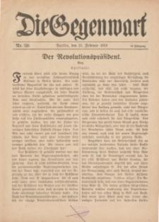 Die Gegenwart: Wochenschrift für Literatur, Kunst, Leben, 48. Jahrgang, 1919, H. 5/6