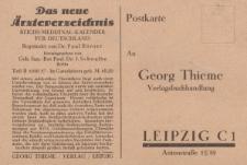 Verlag Georg Thieme : Postkarte