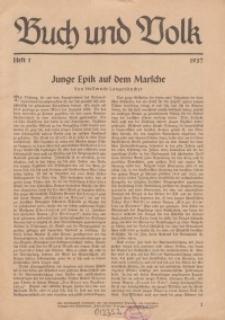 Buch und Volk, 1937, H. 1.