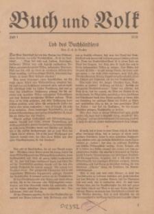 Buch und Volk, 1938, H. 1.