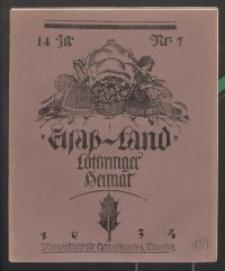 Elsaß-Land, Lothringer Heimat, 14. Jg. 1934, H. 7.