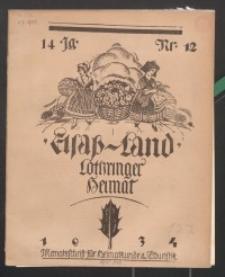 Elsaß-Land, Lothringer Heimat, 14. Jg. 1934, H. 12.