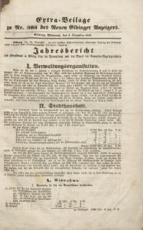 Extra =Beilage zu Nr. 305 des Neuen Elbinger Anzeigers
