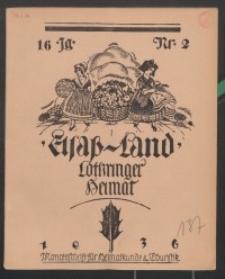 Elsaß-Land, Lothringer Heimat, 16. Jg. 1936, H. 2.