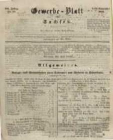 Gewerbe-Blatt für Sachsen. Jahrg. III, 22. November, nr 47.