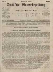 Deutsche Gewerbezeitung und Sächsisches Gewerbeblatt, Jahrg. XII, Dienstag, 12. Januar, nr 4.