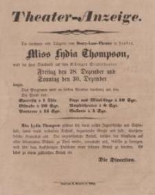 Miss Lydia Thompson