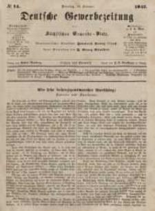 Deutsche Gewerbezeitung und Sächsisches Gewerbeblatt, Jahrg. XII, Dienstag, 16. Februar, nr 14.