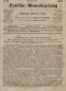 Deutsche Gewerbezeitung und Sächsisches Gewerbeblatt, Jahrg. XII, Dienstag, 4. Mai, nr 36.