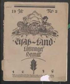 Elsaß-Land, Lothringer Heimat, 19. Jg. 1939, H. 2.