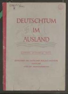 Deutschtum im Ausland, 26. Jahrgang, 1943, H. 7/8