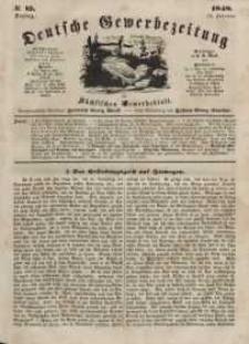 Deutsche Gewerbezeitung und Sächsisches Gewerbeblatt, Jahrg. XIII, Dienstag, 15. Februar, nr 13.