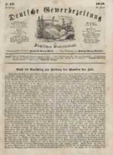 Deutsche Gewerbezeitung und Sächsisches Gewerbeblatt, Jahrg. XIII, Dienstag, 20. Juni, nr 49.