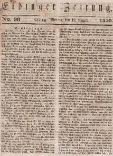 Elbinger Zeitung, No. 98 Montag, 19. August 1850