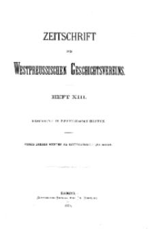 Zeitschrift des Westpreußischen Geschichtsvereins, 1884, H. 13