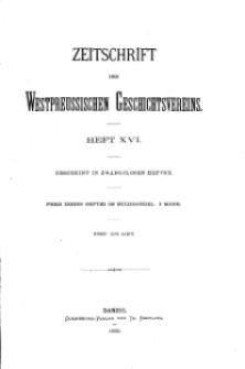 Zeitschrift des Westpreußischen Geschichtsvereins, 1886, H. 16