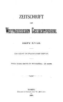 Zeitschrift des Westpreußischen Geschichtsvereins, 1886, H. 18