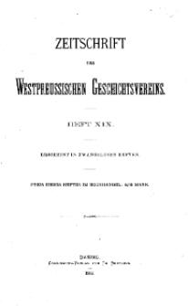 Zeitschrift des Westpreußischen Geschichtsvereins, 1888, H. 19