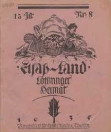 Elsaß-Land, Lothringer Heimat, 15. Jg. 1935, H. 8.