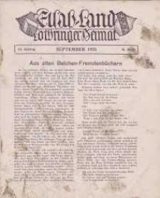 Elsaß-Land, Lothringer Heimat, 15. Jg. 1935, H. 9.