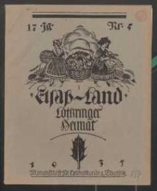 Elsaß-Land, Lothringer Heimat, 17. Jg. 1937, H. 5.