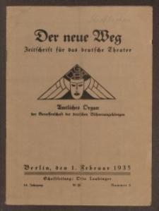 Der neue Weg. Halbmonatsschrift für das deutsche Theater, 64. Jg.1935, H. 2