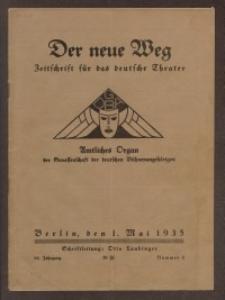 Der neue Weg. Halbmonatsschrift für das deutsche Theater, 64. Jg.1935, H. 8